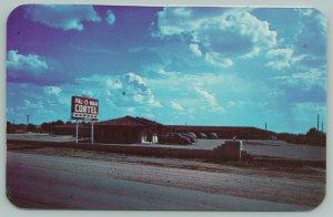 Snyder Texas~Pal-o-Mar Cortel~Roadside Motel~US Highways 84 & 100~Postcard