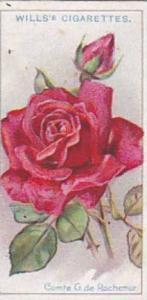 Wills Vintage Cigarette Card Roses 1926 No 7 Comte G de Rochemur