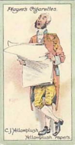 Player Vintage Cigarette Card Characters From Thackeray 1913 No 24 C J Yellow...
