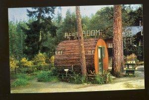 Garberville, California/CA Postcard, He & She, Grundy's Redwood Terrace