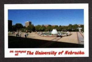 NE Hello from University of NEBRASKA Campus Postcard PC