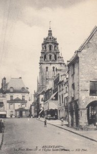 ARGENTAN, France,1910-1920s, La Place Henri LV et l'Eglise Saint-Germain