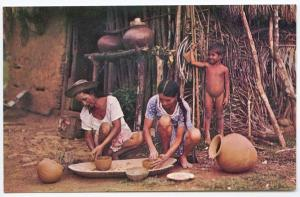 Panama Skill of Pottery Making Postcard