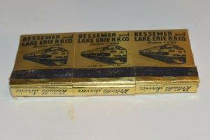 6 Bessemer and Lake Erie Railroad Company Gold 30 Strike Matchbooks