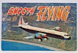 Aviation postcard Eastern PropJet Electra