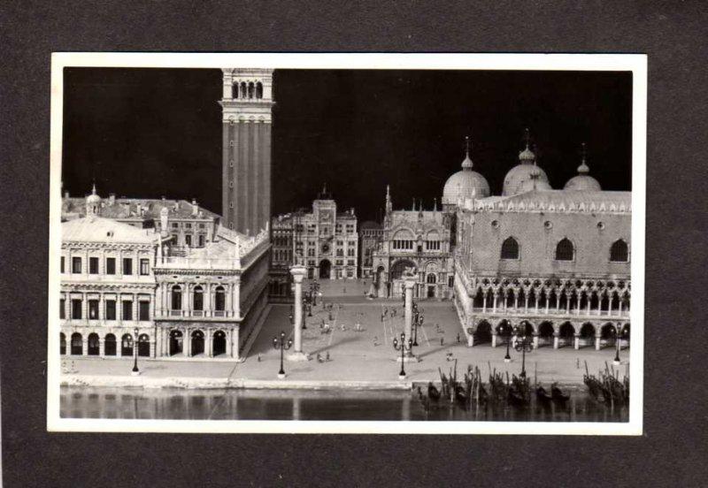 IL St Mark's Piazza Venice Italy Wood Carving Attilio Savoia Chicago Illinois RP
