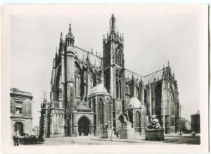 France, METZ, St-Etienne Cathedral, Front on the Arms Place, Mini Photo
