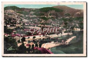 Old Postcard Villefranche Sur Mer La Darse Vue Generale