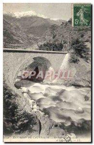 Postcard Old Surroundings of Cauterets Bridge Raillere and Cabaliros