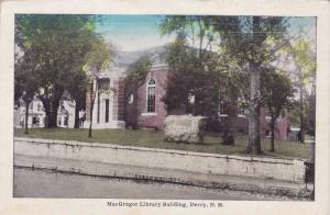 MacGregor Library Building, Derry, New Hampshire, 10-20s