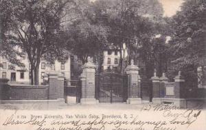 Rhode Island Providence Brown University Van Wickle Gates 1906