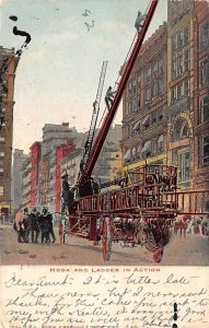 Hook and Ladder in Action Fire Department 1906