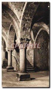 Old Postcard Mont Saint Michel Cloister Aumonerie or the Monastery