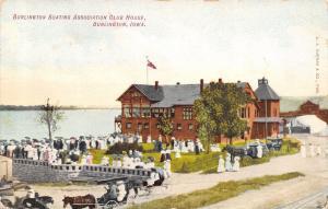Burlington Iowa~Boating Association Club House~Ladies & Gents~Horse Rigs~1911 PC