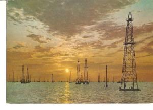 Postal 034742 : Torres del Petroleo en el Lago de Maracaibo (Venezuela)