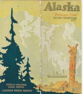 S.S. PRINCESS CHARLOTTE to Skagway , Alaska , 1926 ; Passenger List