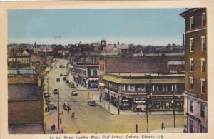 Arthur Street Looking West, New Ontario Hotel, Etc., Port Arthur, Ontario, Ca...
