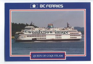 FE1299 - Canadian Ferry - Queen of Coquitlam , built 1976 - postcard