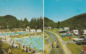 Swimming Pool,  Camping Municipal De La Tuque,  Quebec,  Canada,  PU_1974