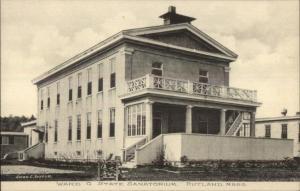 Rutland MA Ward G State Sanatorium c1910 Postcard