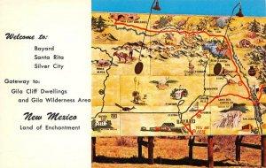 Welcome Sign GILA WILDERNESS AREA Bayard, Santa Rita, New Mexico c1950s Postcard