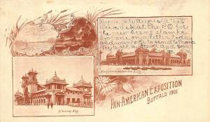 Pan-American Expo PMC Two Views Postcard