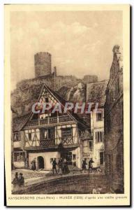 Old Postcard Kaysersberg Musee d & # 39apres an old engraving