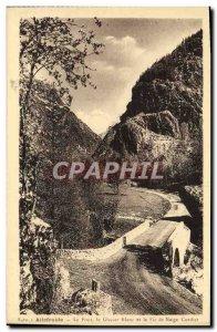 Old Postcard Ailefroide Bridge Glacier White And Roper snow