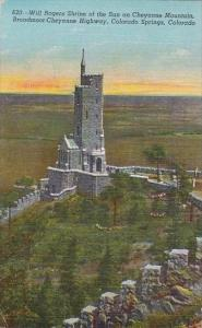 Colorado Colorado Springs Will Rogers Shrine Of The Sun On Cheyenne Mountain ...