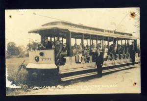 North Kennebunkport, Maine/ME Postcard, Open Car, Seashore Electric Railway