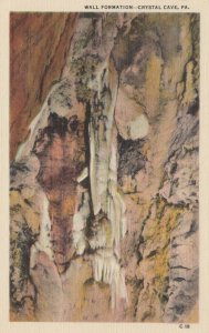 CRYSTAL CAVE, Pennsylvania, 1930-40s; Wall Formation