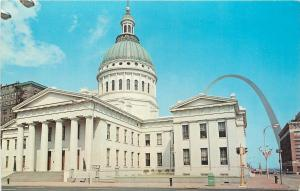 St Louis Missouri~Old Courthouse, Arch Behind~Dred Scott Case Held Here~1966