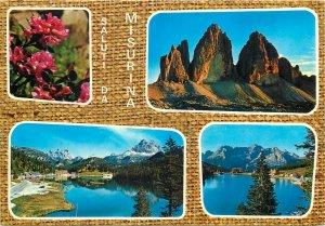 Europe Italy Postcard Misurina multi view