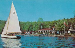 Sailboat , Lac Ouimet Club , ST JOVITE , Quebec , Canada , 40-60s