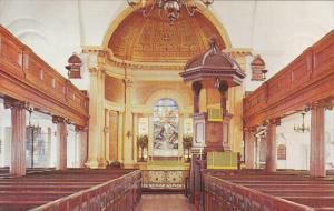 Interior , St Michal's Church , CHARLESTON , South Carolina , 50-60s