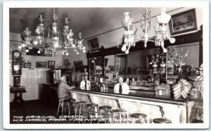 Virginia City, NV RPPC Photo Postcard The Original Crystal Bar Frasher c1940s