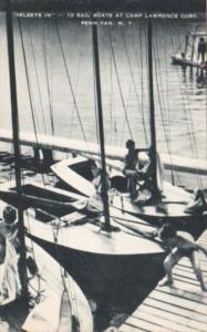 New York Penn Yan Sailboats At Camp Lawrence Cory Artvue