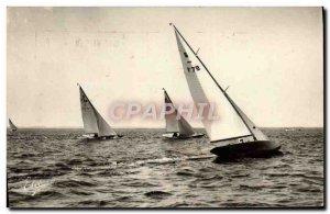 Modern Postcard Arcachon Basin Yacht Regattas On The