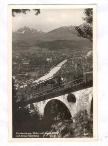 RP; Innsbruck geg. Suden mit Serles 2719m und Hungerburgbahn, Austria, PU-1957
