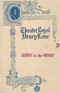 Babes In The Wood Robin Hood London Pantomime Theatre Programme