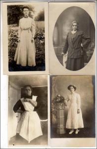 4 - RPPC, Women Cards