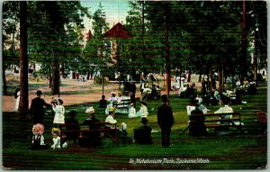 Spokane, Washington Postcard In Natatorium Park People Scene c1910s Unused