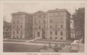 New York Syracuse University Haven Hall Albertype
