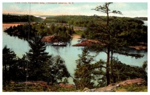New York  Aerial view of Thousand islands  from Holstead Bay