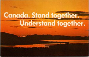 Canada Stand Together Understand Together Patriotic Advertising Postcard F18