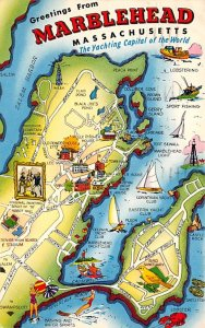Maps Marblehead Massachusetts, USA 1961