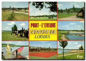 Postcard Modern Bridge L & # 39Eveque The Recreation Center Tennis Yachting R...