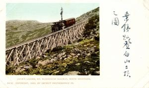 NH - Mount Washington. Jacob's Ladder, Mt Washington Railway