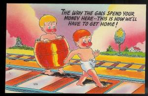 The Way the Gals Spend your Money! unused c1930's/1940's