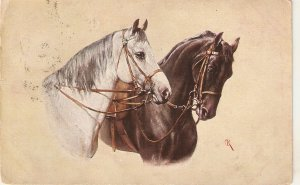 C.Reichert. Horses. Trusty and True TuckOilette PC # 9985